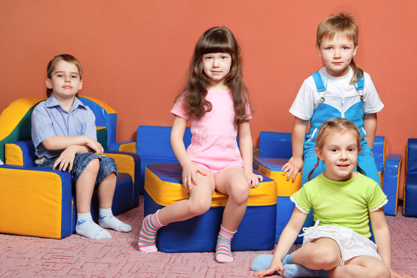 Group of preschool kids