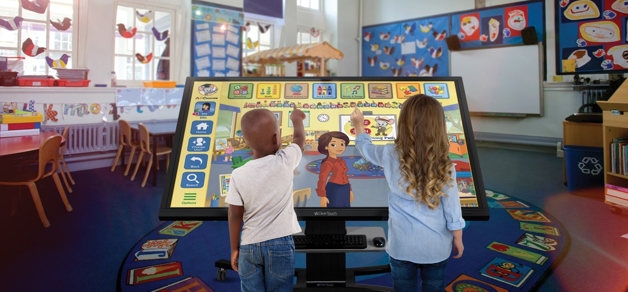 ABCmouse for Schools on a Clear Touch Screen